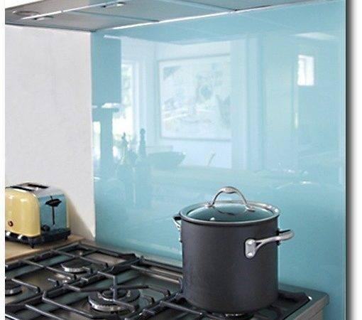 Diy Kitchen Backsplash Colored Glass Plywood Non Permanent