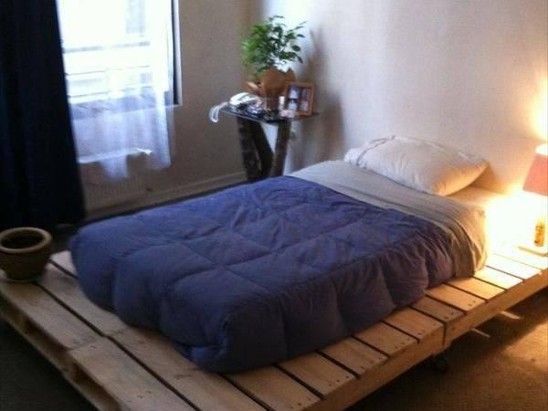 Diy Lighted Pallet Bed Frame