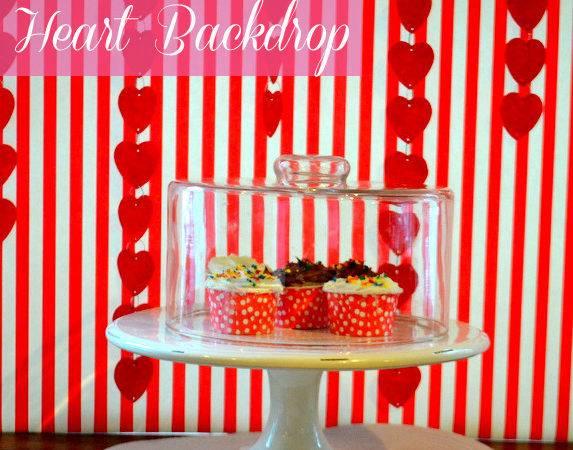 Diy Make Heart Backdrop Valentine Day Catch Party