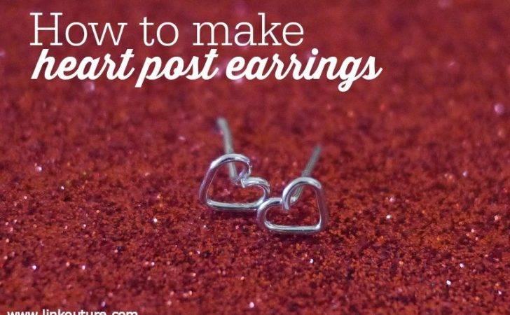 Diy Make Tiny Heart Post Earrings