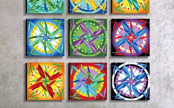 Diy Mandala Painting Decoration Wall Scenery