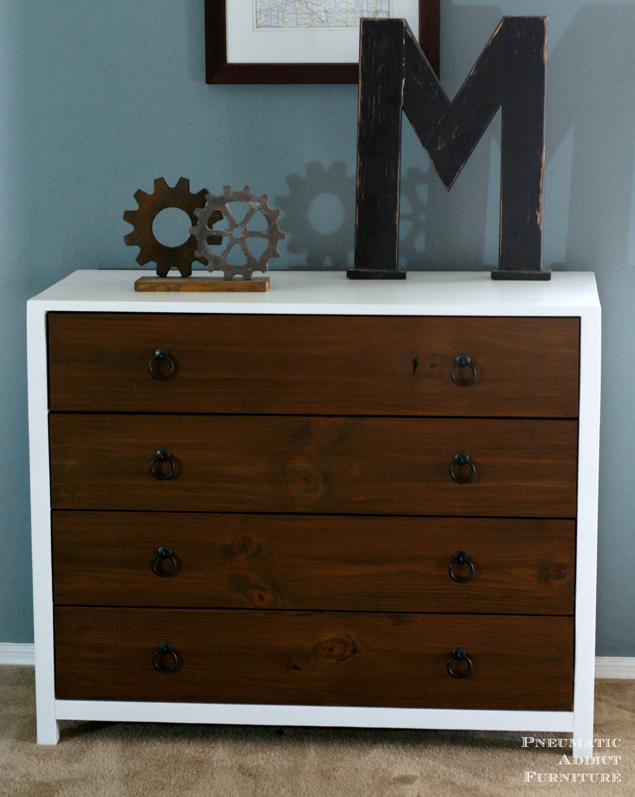 Diy Modern Dresser Wood Drawers Inspired Pottery Barn Kids