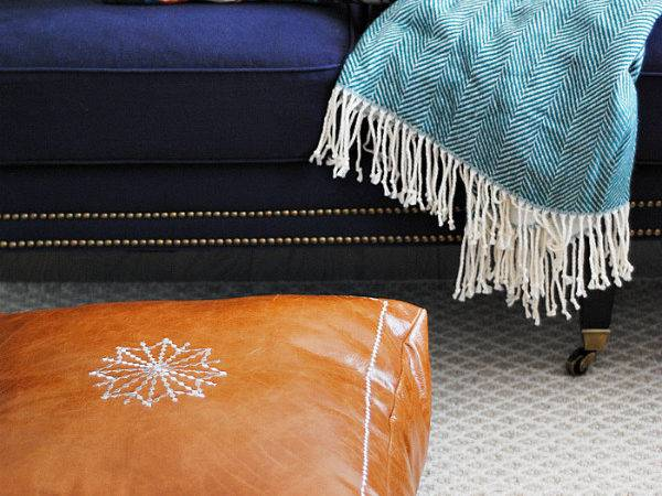 Diy Moroccan Leather Pouf Floor Pillow