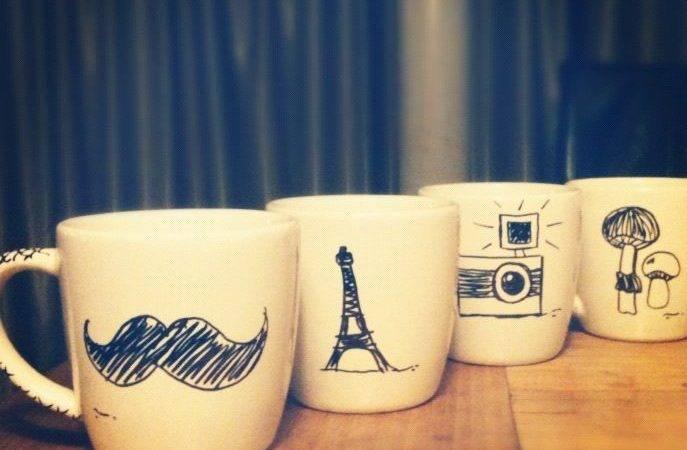 Diy Mugs Sharpie Oven Pinterest Mug
