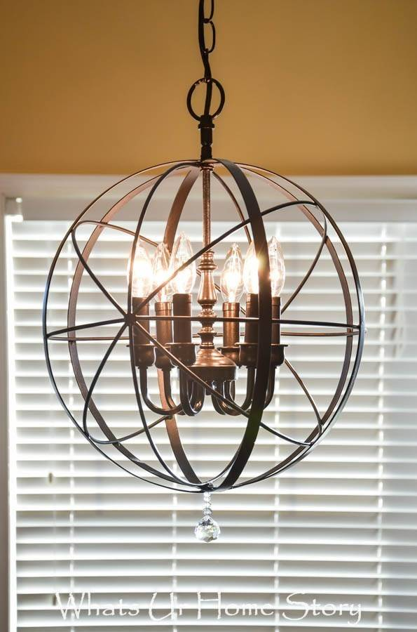 Diy Orb Chandelier Whats Home Story