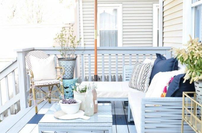 Diy Painted Deck Decor Nesting Grace