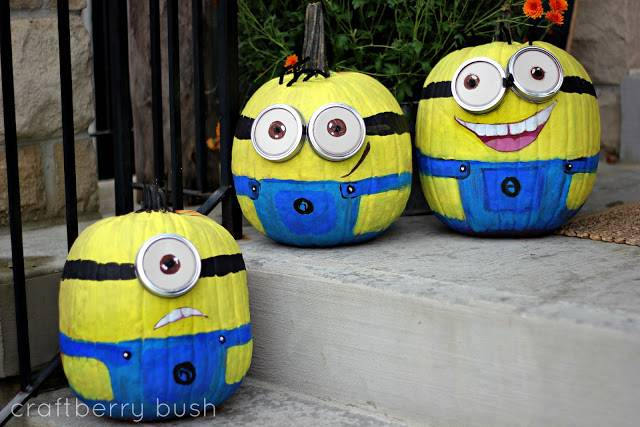 Diy Painted Halloween Pumpkins Despicable Minions