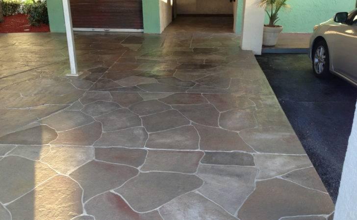 Diy Painting Concrete Patio Aqua Frompo