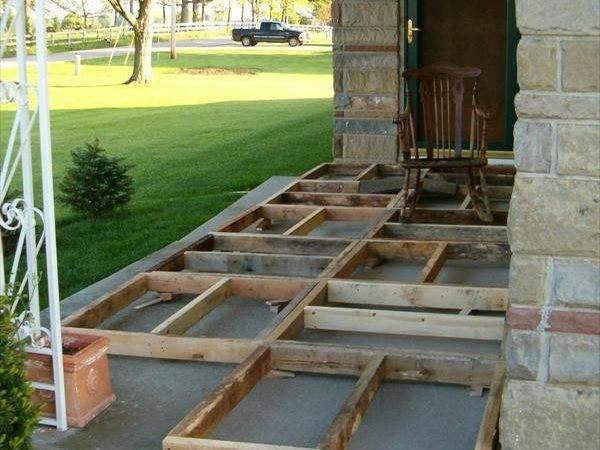 Diy Pallet Front Porch Remodeling Tutorial Pallets