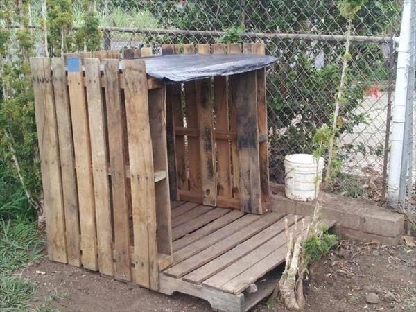 Diy Pallet Outdoor Dog House Pallets Designs