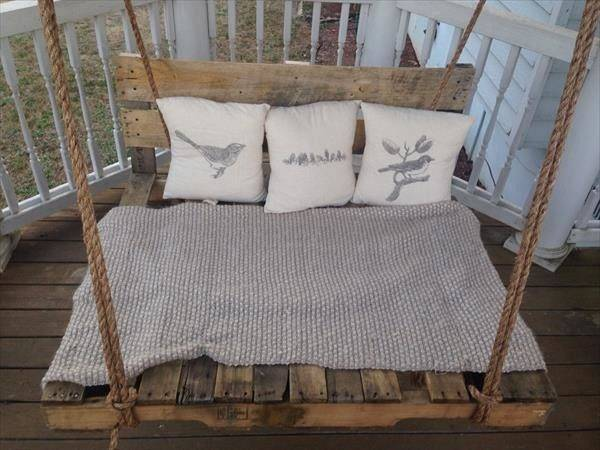 Diy Pallet Swing Bed Furniture