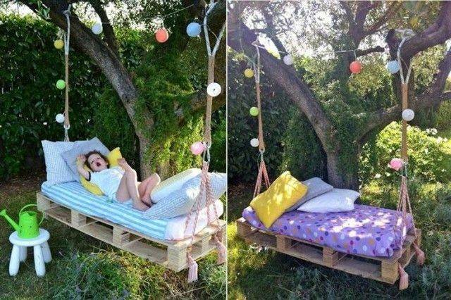 Diy Pallet Swing Bed Ideas Vody Urob Pinterest