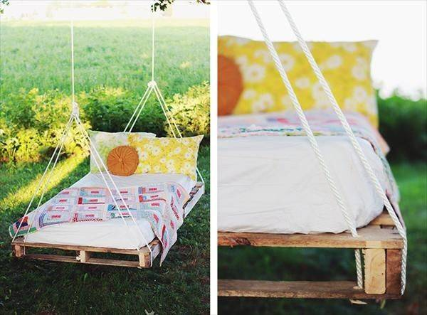 Diy Pallet Swing Bed Instructions Pallets