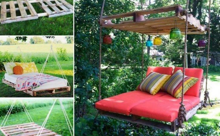 Diy Pallet Swing Bed Instructions Pin Pinterest