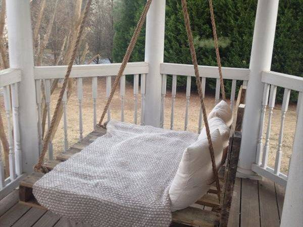 Diy Pallet Swing Bed Instructions Pin Pinterest