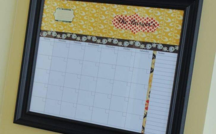Diy Personalized Dry Erase Calendar Calendars Pinterest