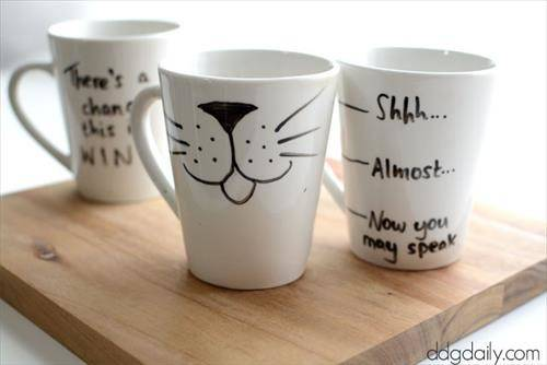 Diy Personalized Mugs Sharpie Craft Projects