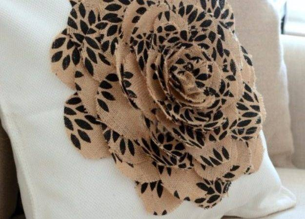 Diy Pillows Creative Pillow Projects Sew Burlap Flower