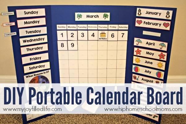 Diy Portable Calendar Board Joy Filled Life