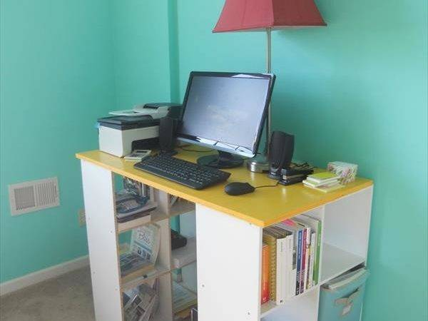 Diy Pottery Barn Similar Bookshelf Desk Great Lots