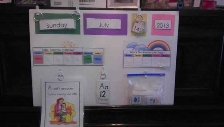 Diy Preschool Calendar Board Let Get Crafty Pinterest Blog