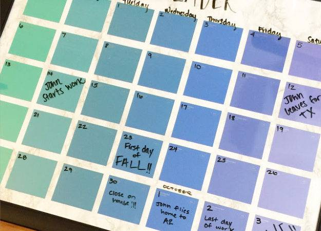 Diy Projects Made Paint Chips Chip Calendar Best