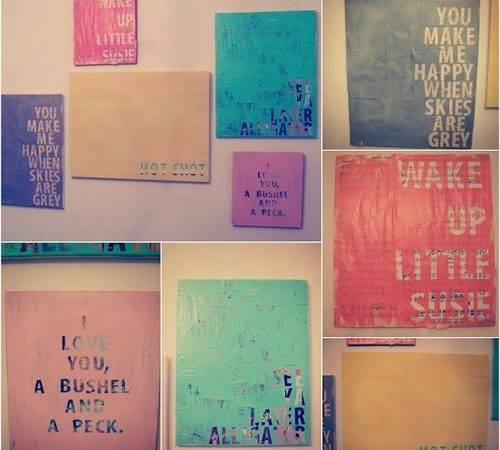 Diy Quotes Canvas Wall Art Words Collage Pinterest