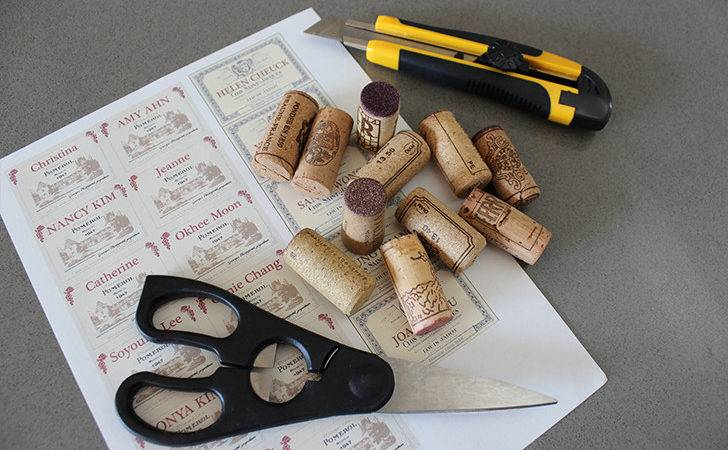 Diy Recycled Wine Cork Placecard Holders