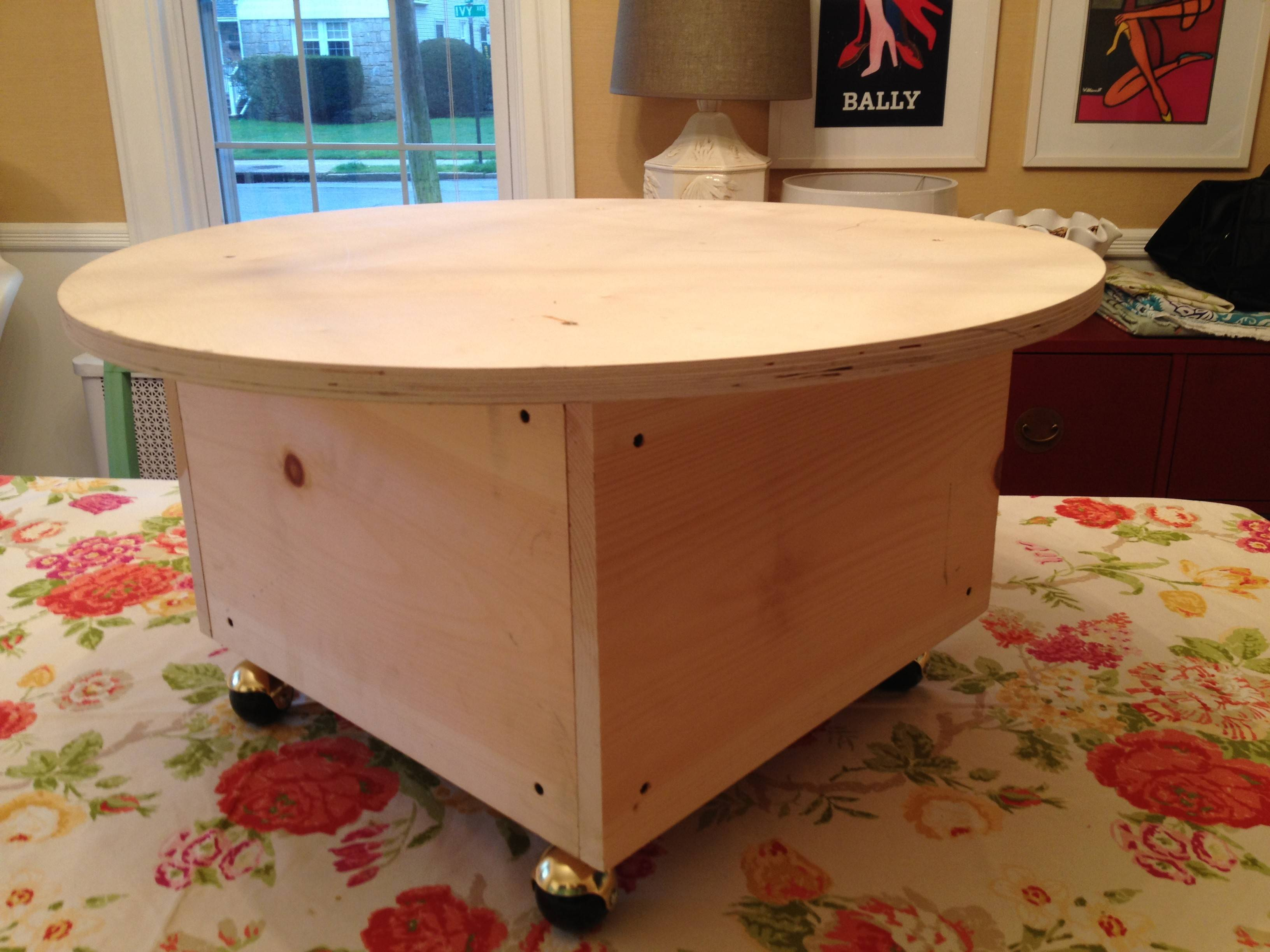Diy Round Ottoman Coffee Table Living Room Tables