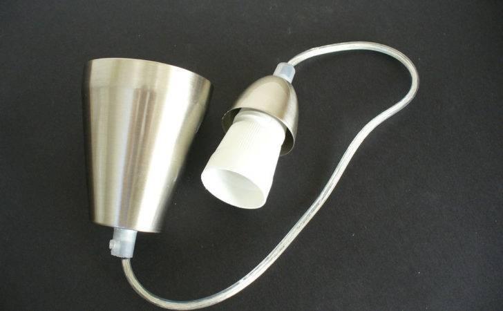 Diy Satin Chrome Cord Pendant Bayonet Lighting Suspension Kit