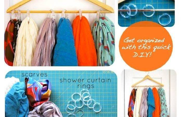 Diy Scarf Organizer Crochet Around Rings