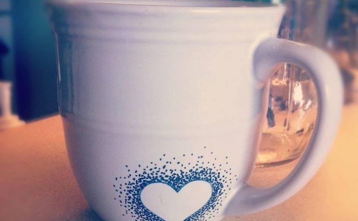 Diy Sharpie Mug Designs Simple Heart Gift Ideas Mugs