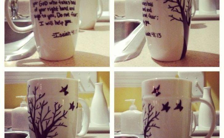 Diy Sharpie Mug Idea Crafts Art Mugs Arts