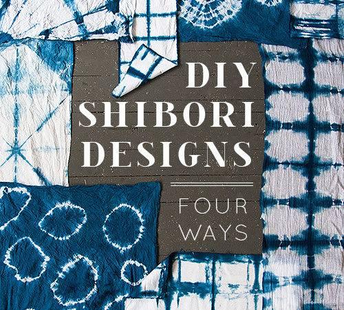 Diy Shibori Designs Ways Design Sponge