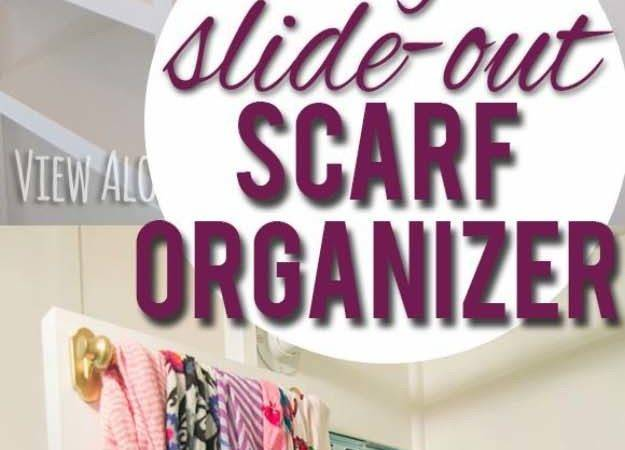 Diy Slide Out Scarf Belt Organizers Diyjoy Closet