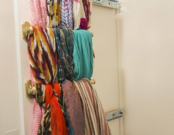 Diy Slide Out Scarf Organizer Home Pinterest