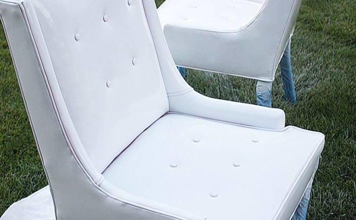 Diy Spray Paint Vinyl Chairs Home Pinterest