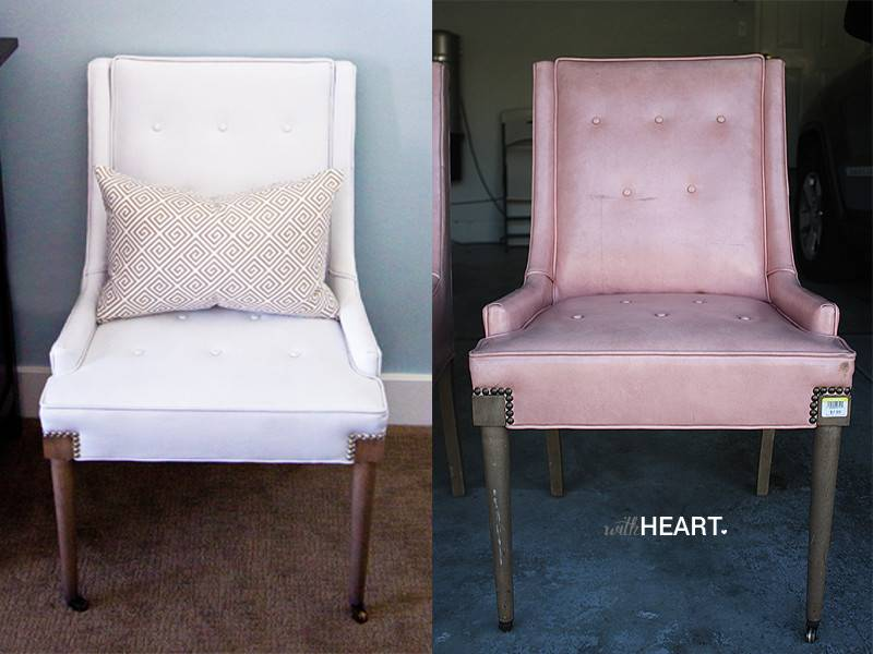 Diy Spray Paint Vinyl Chairs Withheart