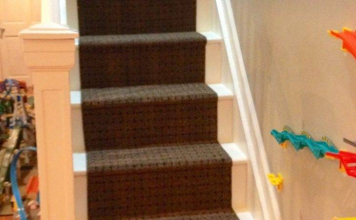 Diy Stair Runner Made Rubber Backed Runners Costco Cost