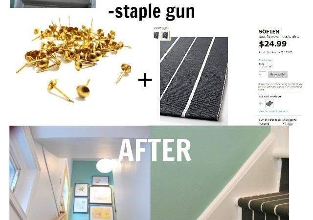 Diy Stair Runner Using Ikea Rugs Via Sweetest Digs