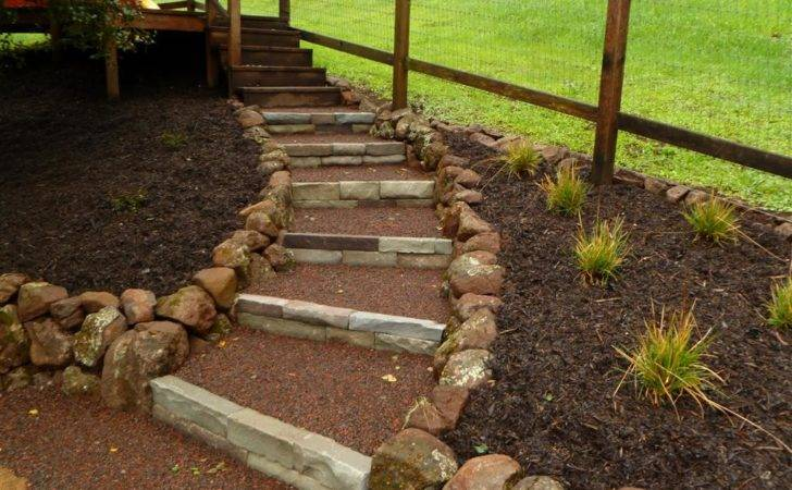 Diy Stone Steps Slope Your Self