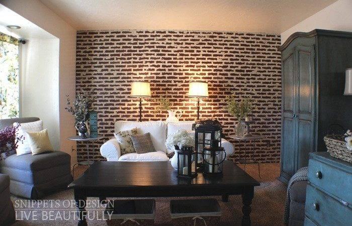 Diy Super Easy Faux Brick Wall Yourself Fun Ideas
