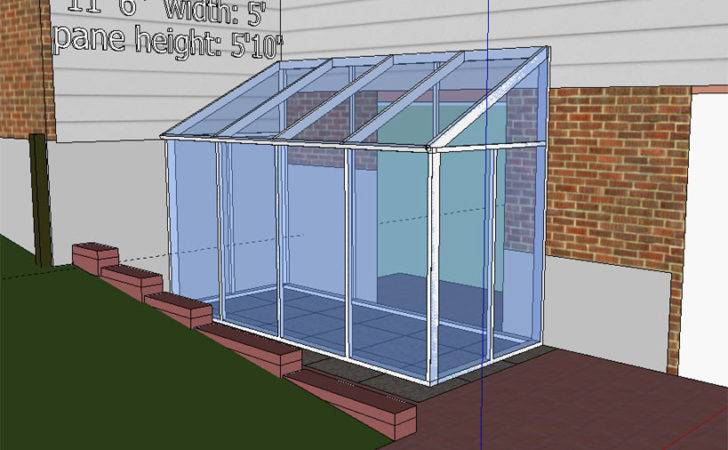 Diy Temporary Sun Room Plastic Shower Curtain Windows Sketchup Sunroom