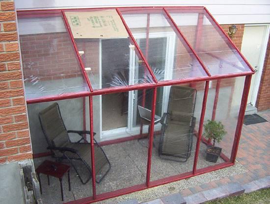 Diy Temporary Sun Room Plastic Shower Curtain Windows Sunroom