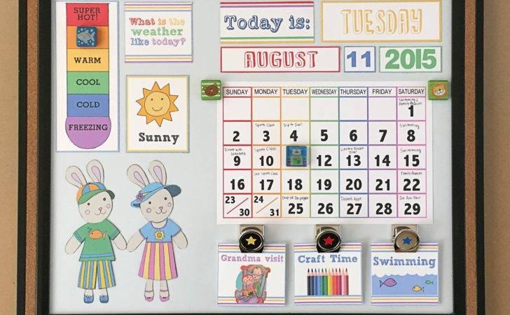 Diy Toddler Calendar Magnet Board