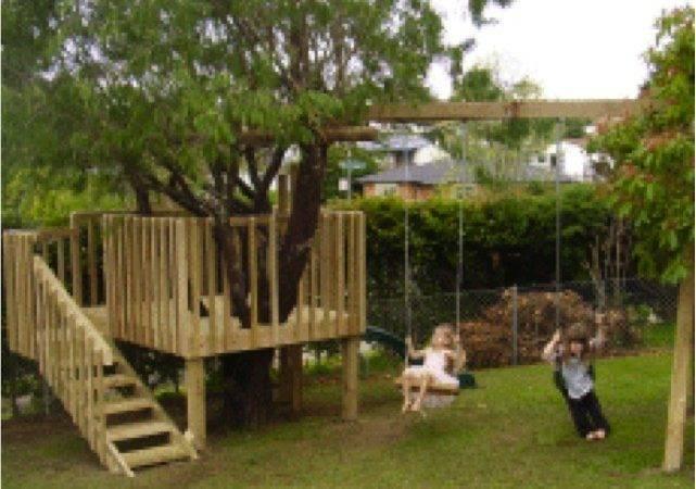 Diy Tree House Slide Swings Yourself Fun Ideas