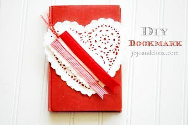 Diy Tutorial Back School Valentines Bookmark