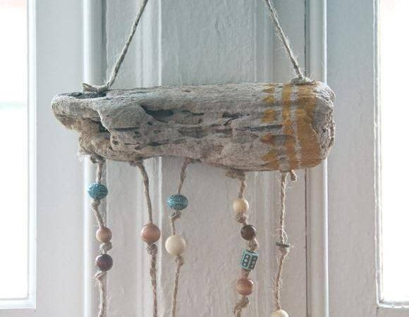 Diy Tutorial Driftwood Crafts Hanging Workout Tracke