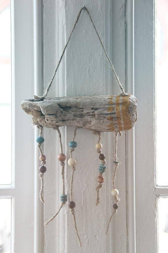 Diy Tutorial Driftwood Crafts Hanging Workout Tracke