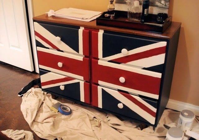 Diy Union Jack Dresser Projects Pinterest